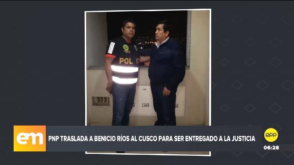Benicio Rios fue capturado en Lima y será entregado a las autoridades judiciales del Cusco.