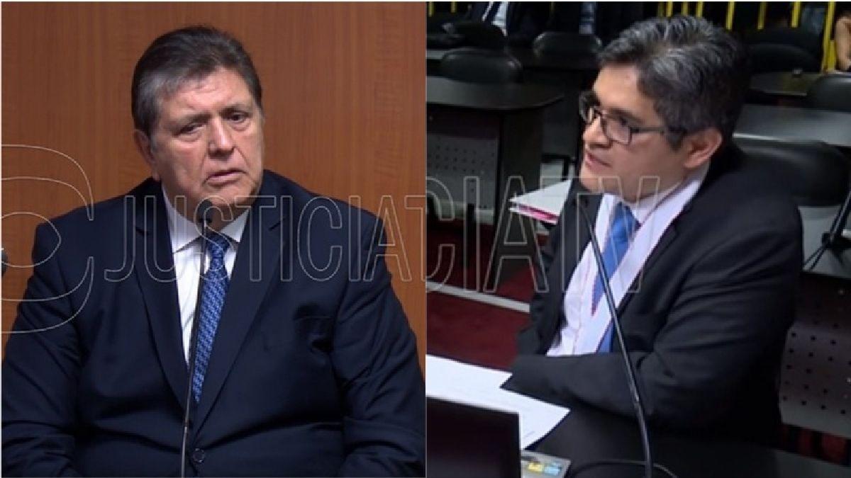 El expresidente Alan García fue interrogado por el fiscal José Domingo Pérez el pasado marzo.