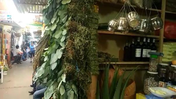 Vendedores estiman que en este mercado existen unas 3 mil especies de plantas entre hierbas, semillas (pepas), cortezas y raíces.