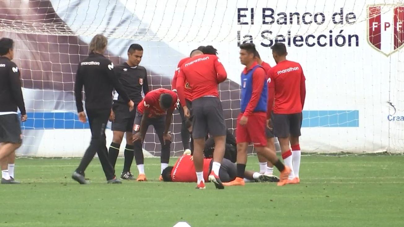 Nilson Loyola asustó a todos en el entrenamiento de la Selección Peruana