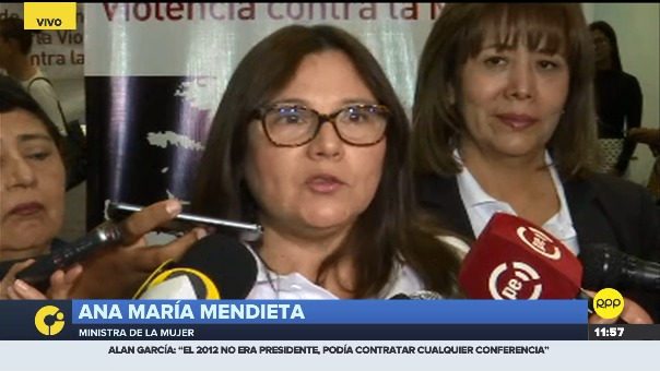 Entrevista a la ministra de la Mujer, Ana María Mendieta.