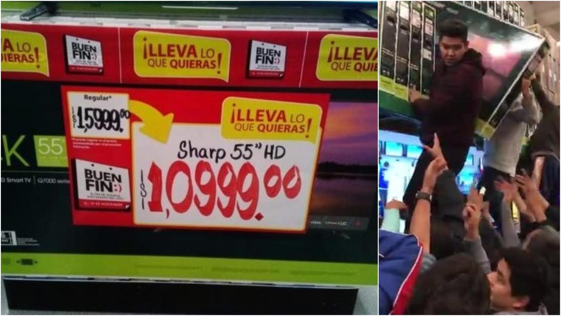 Los clientes lucharon para llevarse uno de los televisores con la oferta surgida de un error.