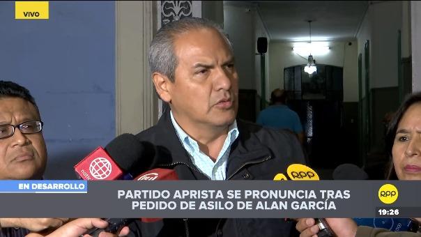 Omar Quezada aseguró que el Partido Aprista acordó que Alan García pueda solicitar asilo en la Embajada de Uruguay.
