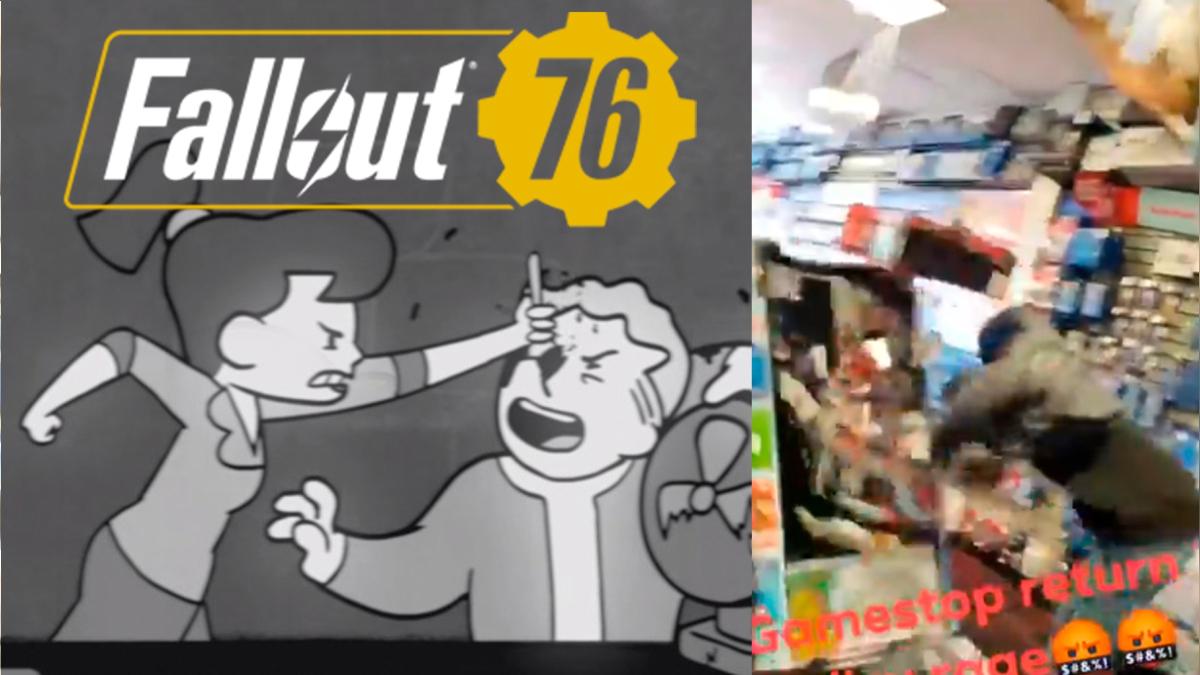 Usuario destruye el interior de tienda Gamestop al ser denegado el reembolso de Fallout 76.