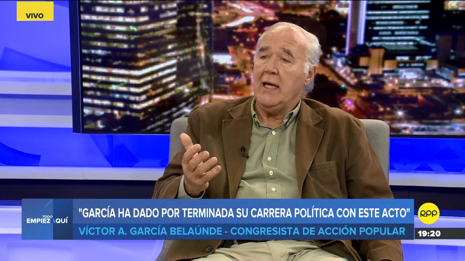 El parlamentario calificó de decepcionante la decisión de Alan García.