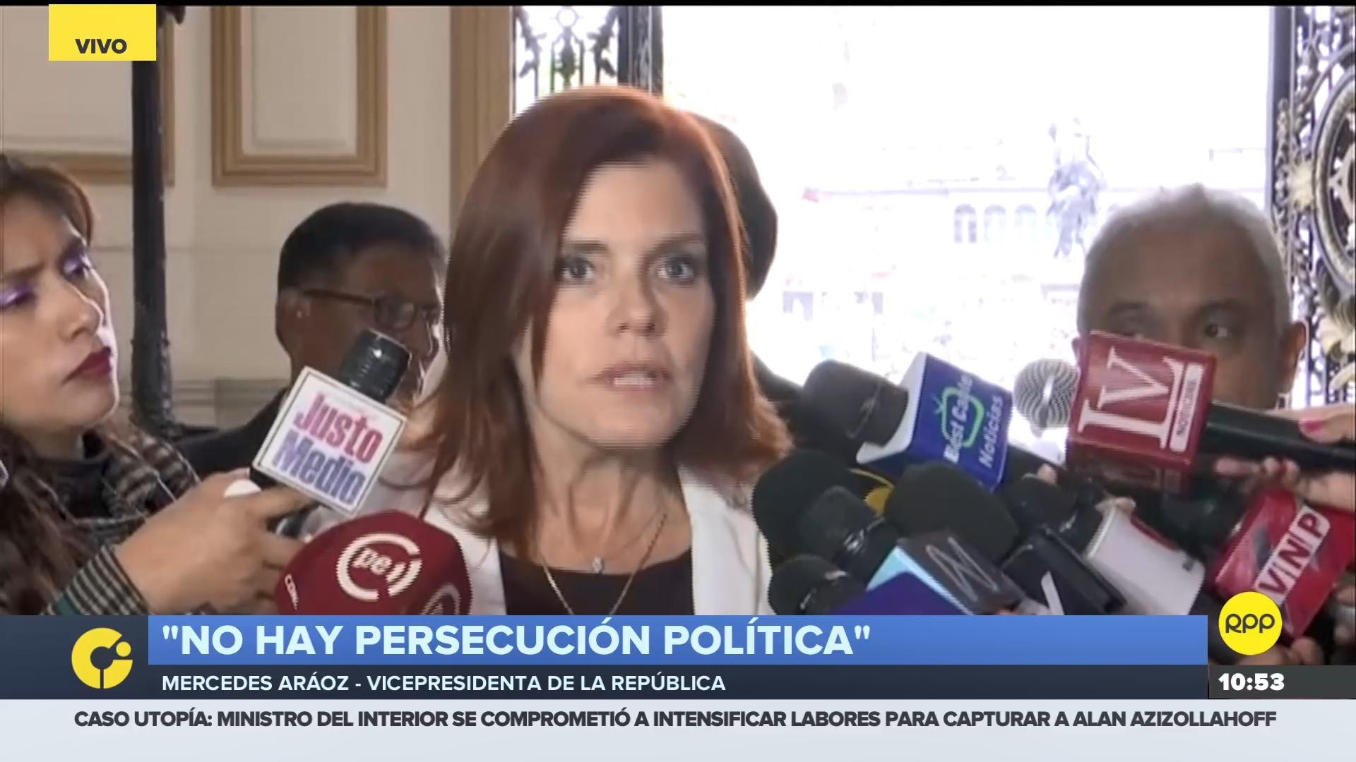 La vicepresidenta comentó que la independencia de poderes se respeta en el país.
