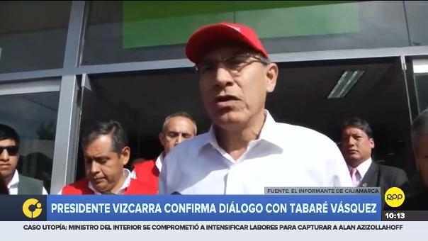 Martín Vizcarra habló sobre su conversación con el mandatario Tabaré Vázquez desde Cajamarca.