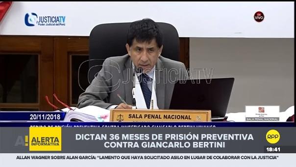 El juez Richard Concepción exigió la captura y arresto inmediato de Giancarlo Bertini.
