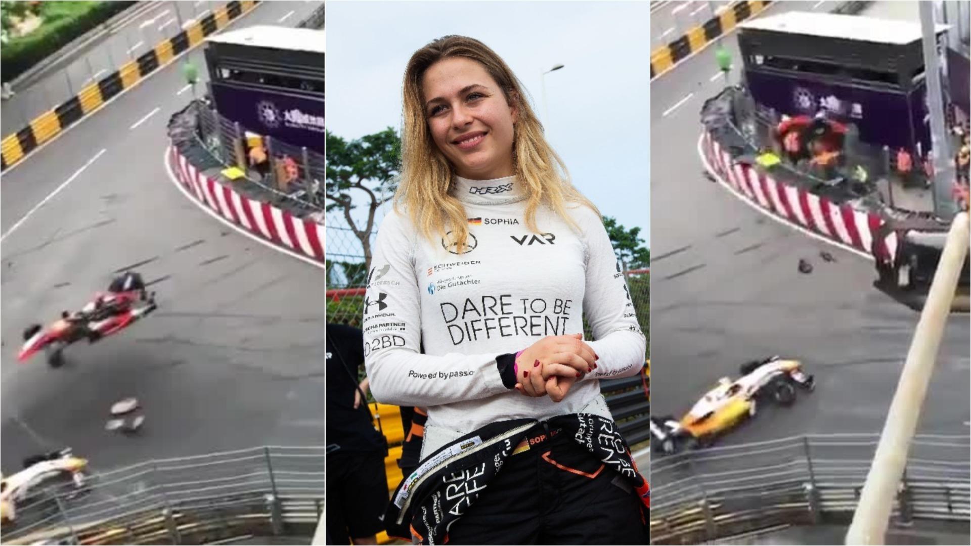 Floersch sufrió un violento accidente en la carrera de Fórmula 3 del domingo en Macao.