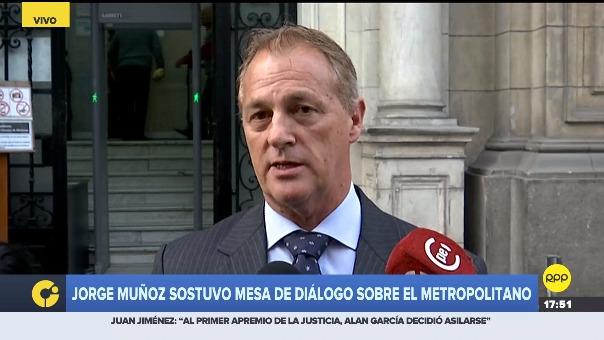 El alcalde electo de Lima, Jorge Muñoz informó que representantes de la gestión de Luis Castañeda Lossio no asistieron representantes de ministerios y concesionarios.