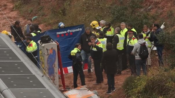 La escena del accidente.