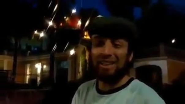 El video grabado en Chile.