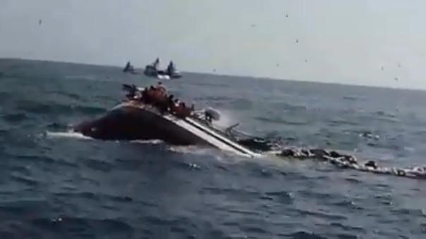 Embarcación José Luis rescató a los pescadores.