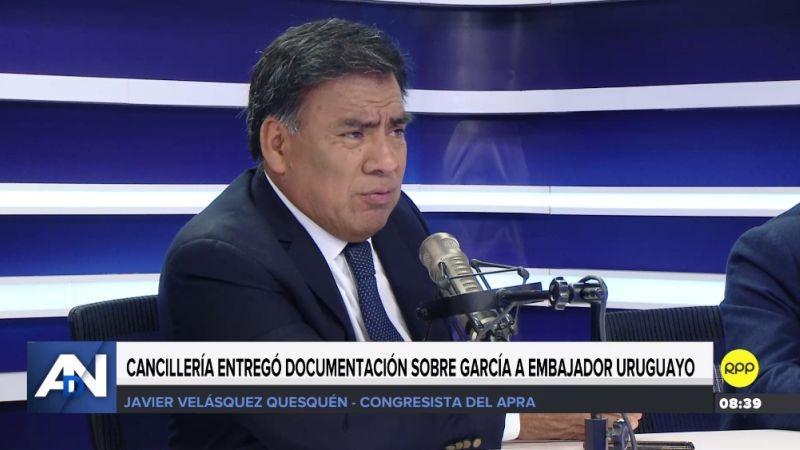 El aprista Javier Velásquez en RPP Noticias.