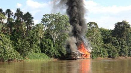 La intervención se produjo cerca al poblado de Negro Urco, distrito de Mazán, provincia de Maynas.