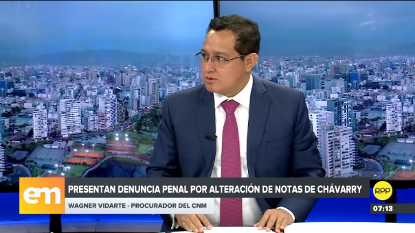 Wagner Vidarte, procurador del CNM, en Edición Mañana