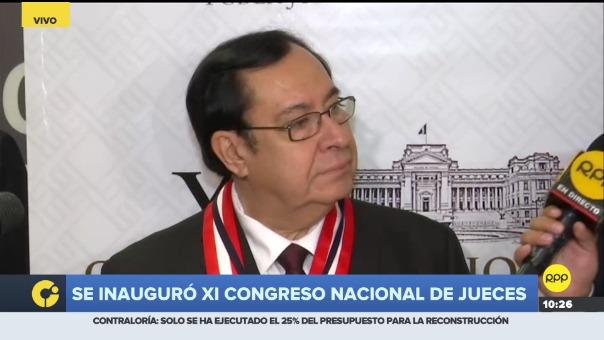 El presidente del Poder Judicial, Víctor Prado Saldarriaga.