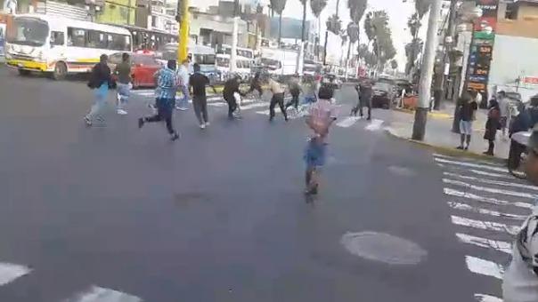 Una balacera se produjo en Chorrillos.