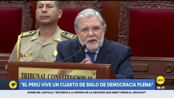 Ernesto Blume destacó que el Perú goza de una democracia plena.