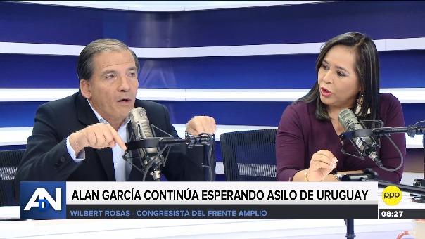 Wilbert Rozas y Nidia Vilchez en Ampliación del Domingo.