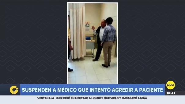Médico fue suspendido tras intentar golpear a paciente