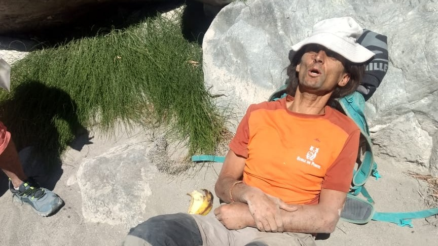 Turista francés fue rescatado de una quebrada en el Valle del Colca.