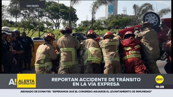 Accidente en Vía Expresa.
