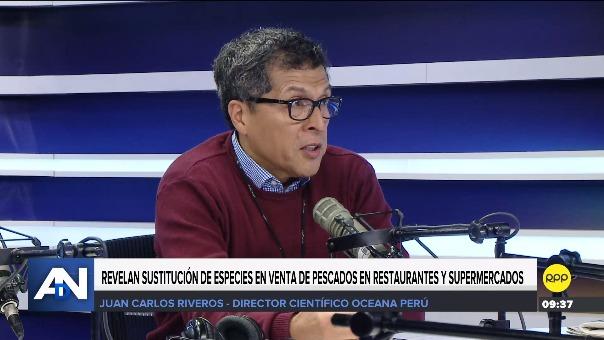 Juan Carlos Riveros, directos científico de Oceana Perú.