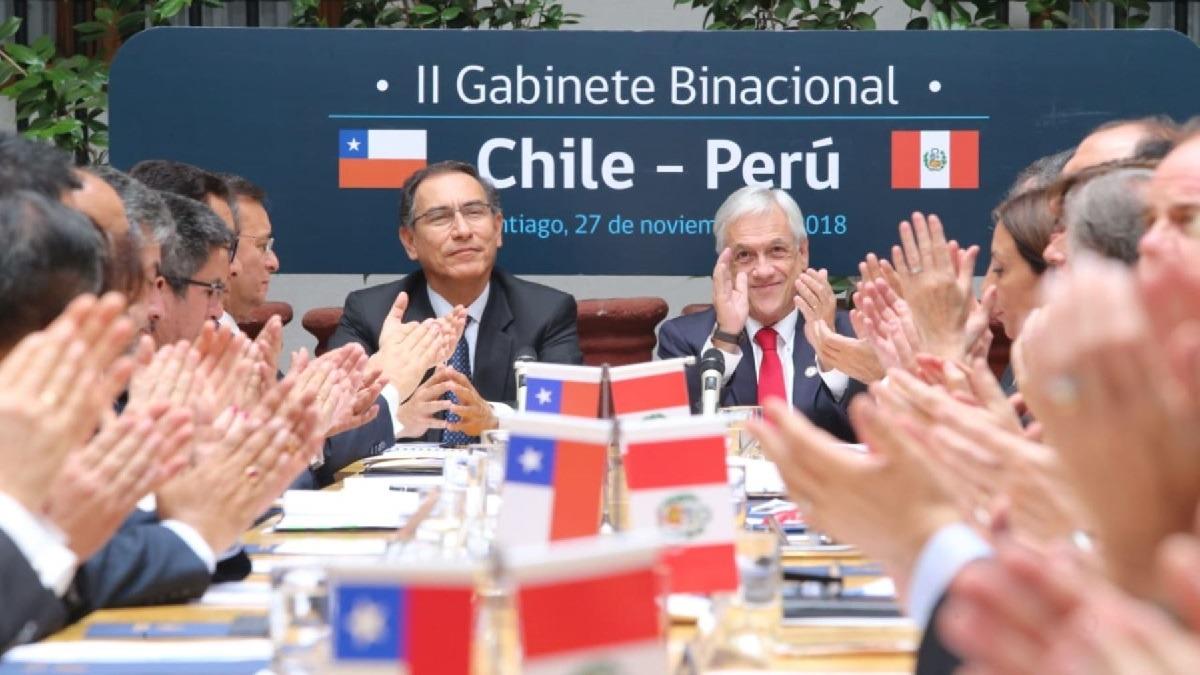 Presidentes participaron del II Gabinete Binacional Perú Chile.