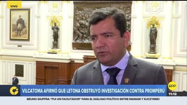 Congresista Luis López dijo que la moción para investigar a Promperú tuvo el respaldo de todos los fujimoristas.