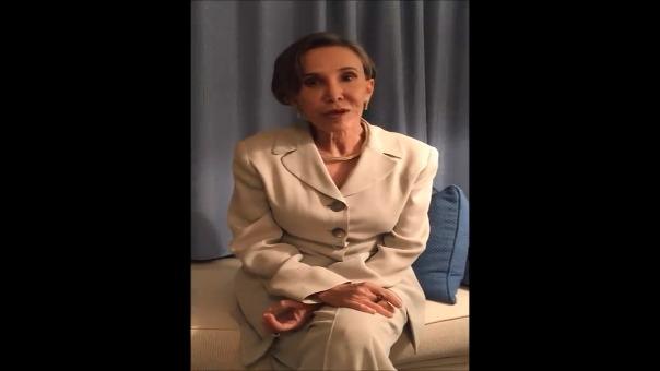 Florinda Meza, viuda de Chespirito, grabó un mensaje para sus seguidores.