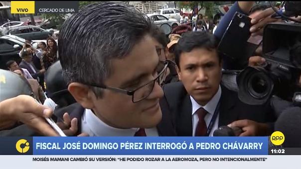El fiscal Pérez interrogó al titular del Ministerio Público.