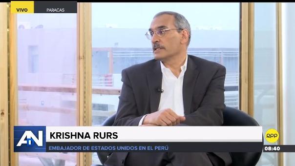 Krishna R. Urs es embajador de Estados Unidos en Perú desde el 2017.