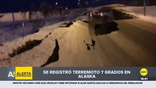 Imágenes del terremoto en Alaska.