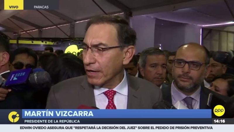 Martín Vizcarra también se refirió a la renuncia de la ministra de Cultura, Patricia Balbuena.