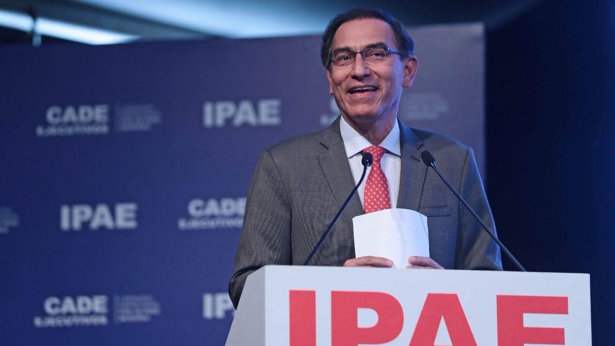 Martín Vizcarra se presentó ante el CADE como presidente por primera vez.