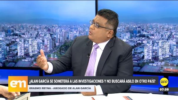 Abogado de Alan García, Erasmo Reyna.