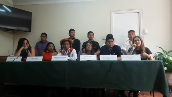En conferencia de prensa, Itiziar Ituño mostró su apoyo a los pueblos originarios peruanos.