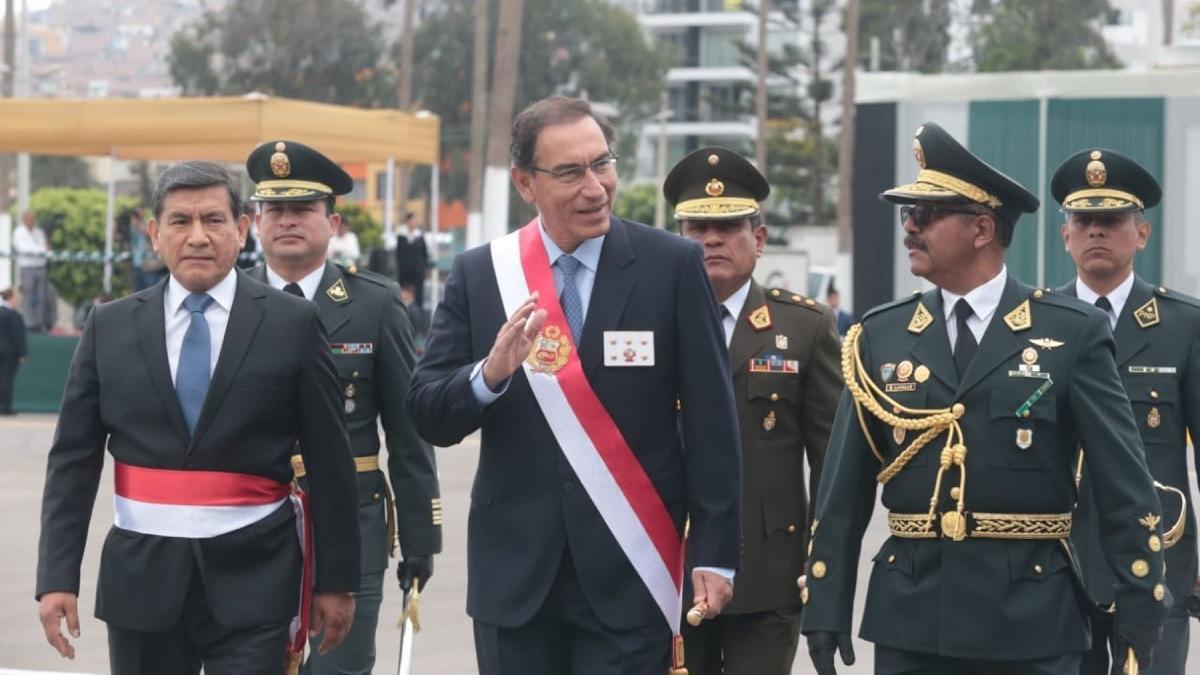 Vizcarra participó en el XXX aniversario de la Policía.