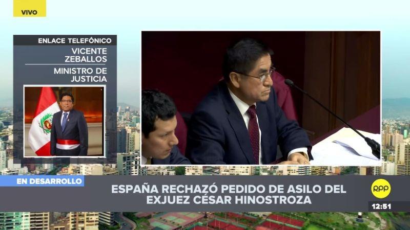 Vicente Zeballos comentó el caso Hinostroza en RPP Noticias.