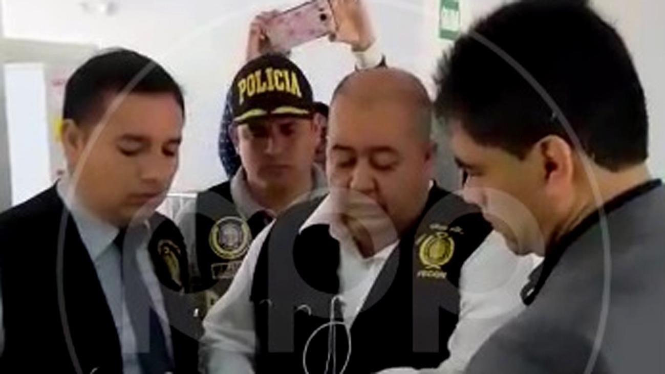 Detención del abogado de Edwin Oviedo.