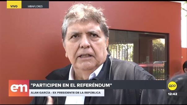 Alan García opinó sobre la coyuntura política.
