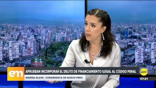 Marisa Glave en Edición Mañana.