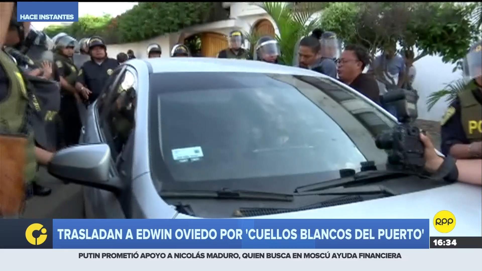 Oviedo dejó su vivienda tras pasar el allanamiento que realizó el Ministerio Público por 9 horas.