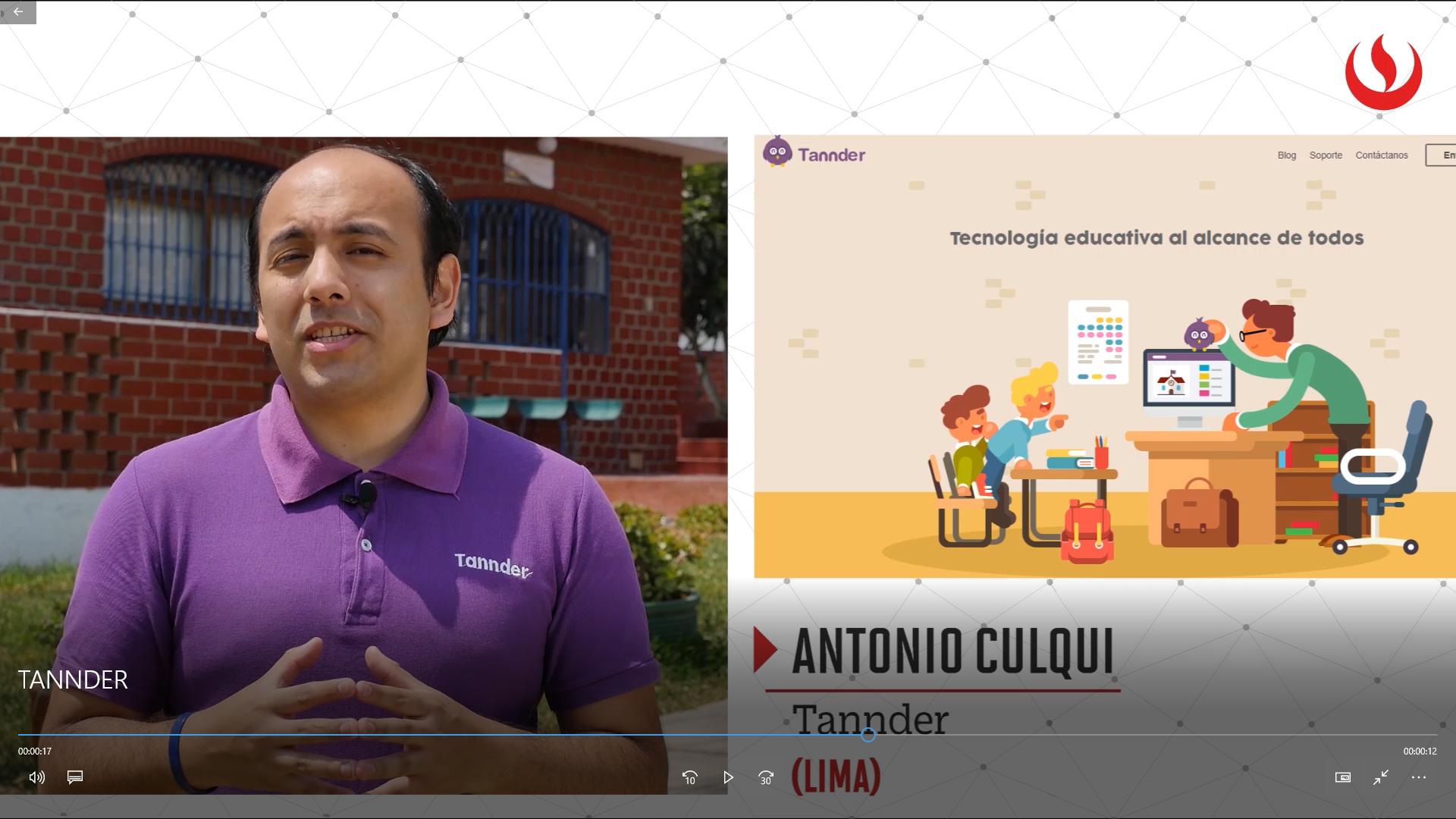 Con el propósito de brindar nuevas herramientas para mejorar el proceso educativo y fomentar el uso de la tecnología en las escuelas, Antonio Culqui creó Tannder.