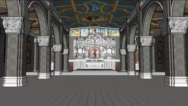 La Hermandad de la Virgen de la Puerta mostró cómo quedarán los trabajos en el santuario.