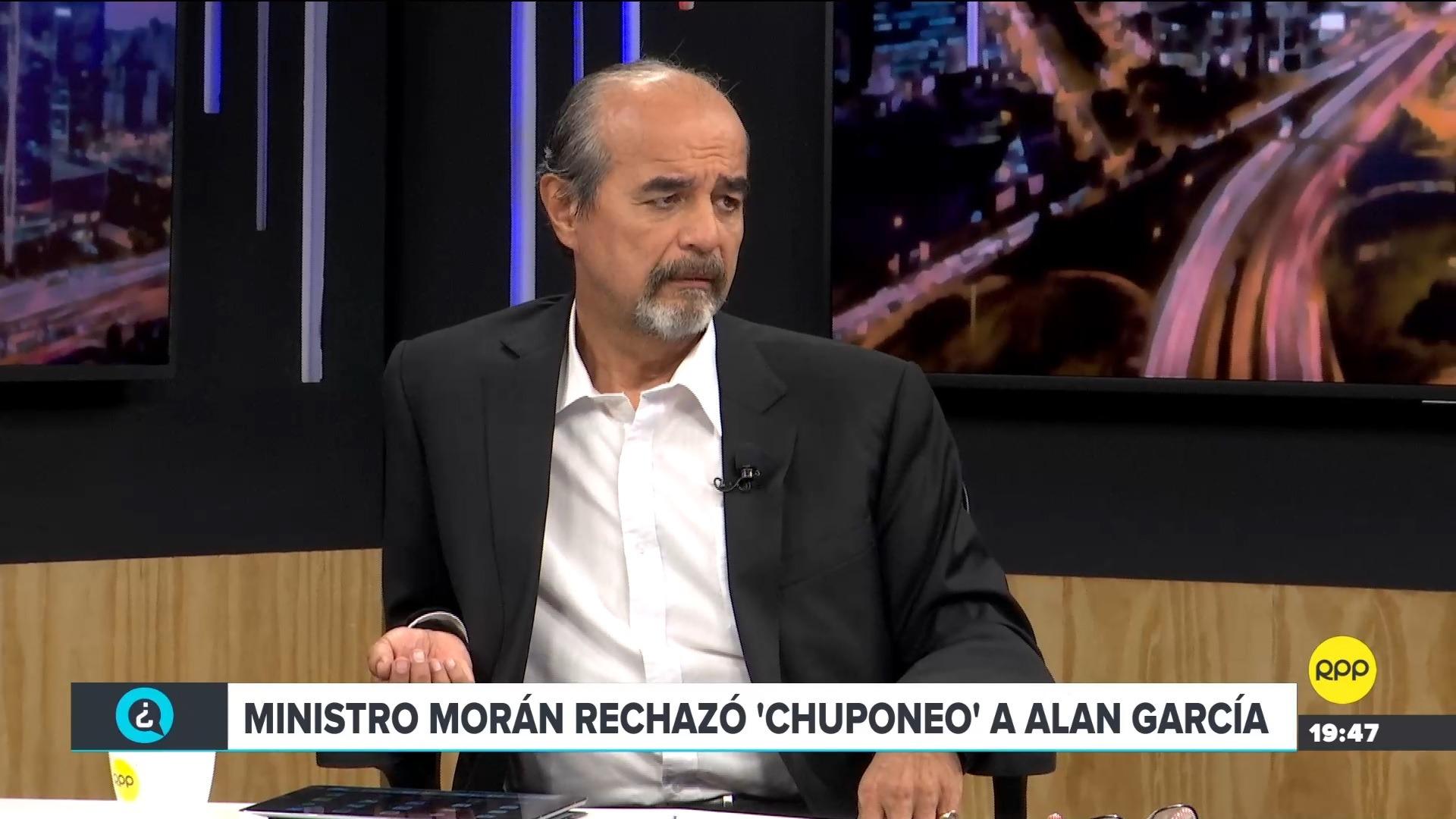 El parlamentario criticó la permanencia del ministro Morán tras la denunciar realizada por el expresidente Alan García.
