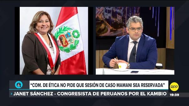 Entrevista con la presidenta de la Comisión de Ética, Janet Sánchez, en RPP.