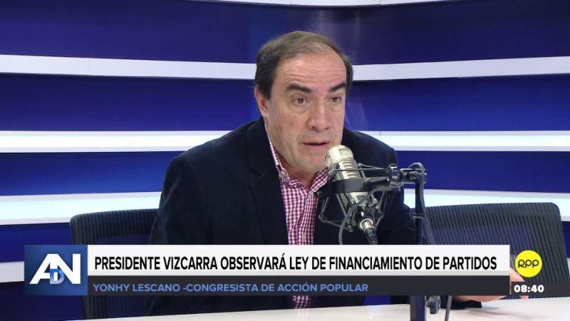 Yonhy Lescano estuvo esta mañana en Ampliación de Noticias.