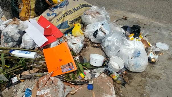 Panorama de basura en calles.
